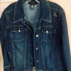 Womens sparkly jean jacket