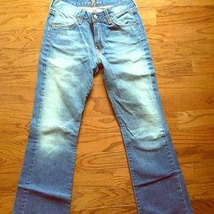 7 For All Mankind boot cut light wash denim