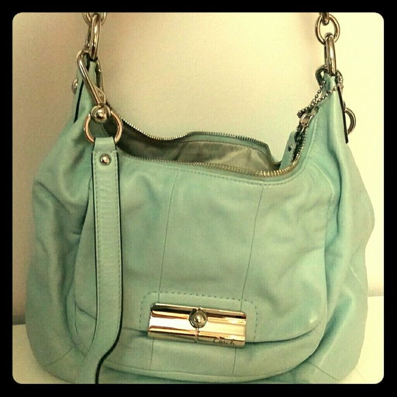 78% off Coach Handbags - COACH 16787 Large Leather Shoulder Bag in ...