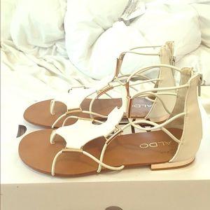 White and gold aldo zeanna sandals!