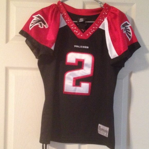 Reebok Tops | Falcons Jersey Womens Blinged Out Collar | Poshmark  for cheap