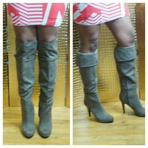 NWT Aldo over the knee suede boots