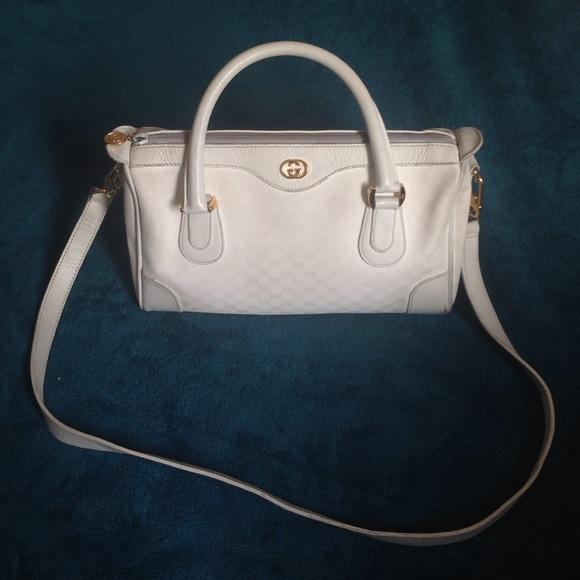e327f245ba8 Gucci Handbags - Vintage White Gucci Handbag Speedy Purse