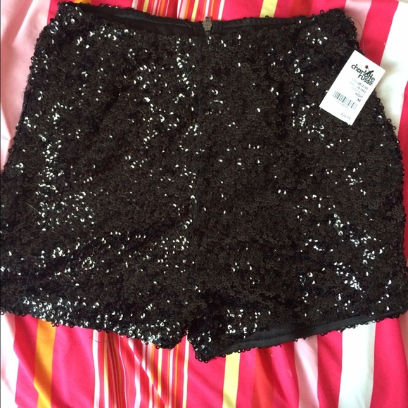 c2e8ef88 Charlotte Russe Shorts   Black High Waisted Sequin Sparkly   Poshmark