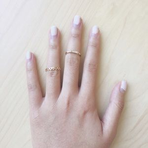 Set of 2 knuckle and midi rings