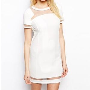 ASOS White Mesh Shift Dress