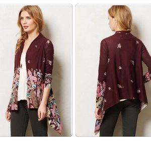 Anthropologie Azimuth Paisley Cardigan