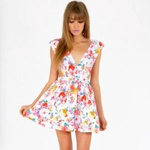 Necessary Clothing Dresses & Skirts - NWT Floral Cut Out Mini
