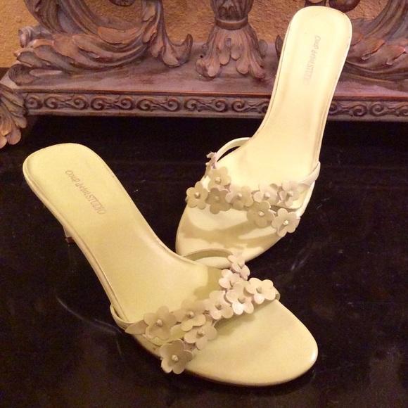 Coup d'etat Studio Shoes - Lime Green Healed Sandals