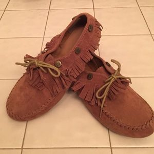 Traffic Shoes - Brown Fringe Moccasins