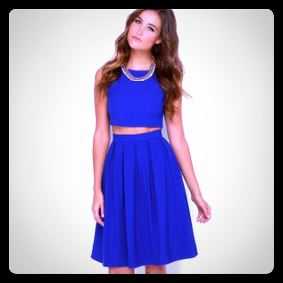 38% off Lulu's Dresses & Skirts - Lulus Royal Blue two piece midi ...