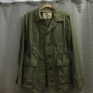 GAP JACKET ( Olive Green) ; Red Campaign.