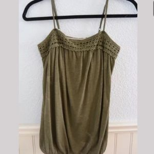 Old Navy Military Green Spaghetti Tank Top XS