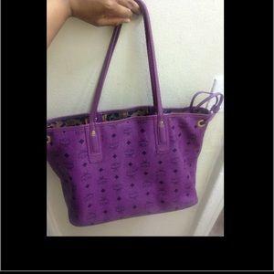 MCM Bags - SOLD on tradesy Medium Purple reversible mcm bag 0c0195e9b9d0d
