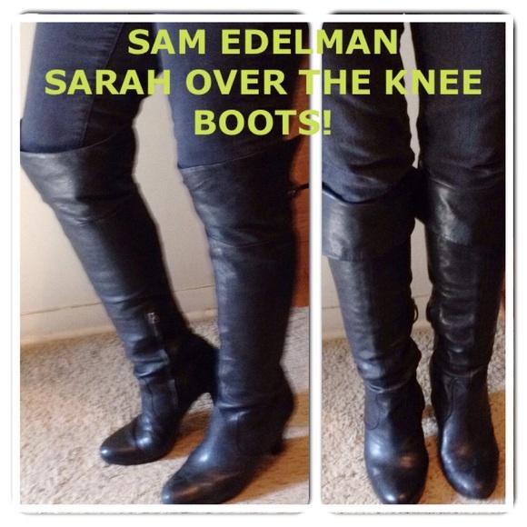 8ff6888f0 Sam Edelman Sarah Black Over the Knee Boots! M 553ae60b7fab3a37a0004829