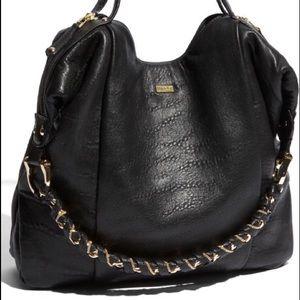 Be & D Handbags - Be & D Black Teague Slouchy Leather Shoulder Bag