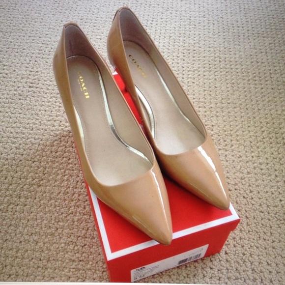 f9b753e2fa Coach Shoes   Ss2015 Grand Nude Patent Leather Pumps 8m   Poshmark
