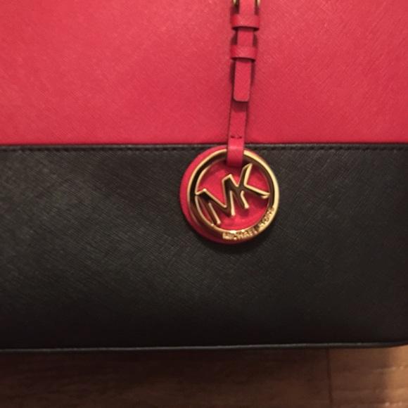 21% off Michael Kors Handbags - NEW Red and Black Michael Kors ...