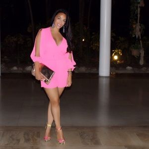 Hot pink playsuit