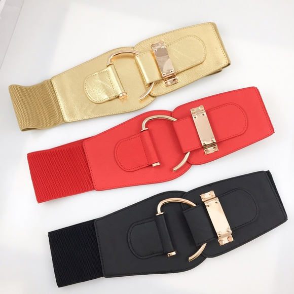 new plus size hook gold hardware wide belt os from