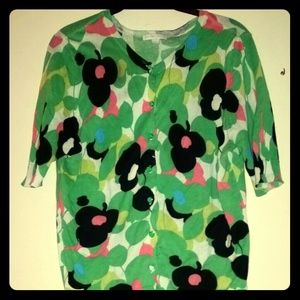 New York & Company Floral Sweater