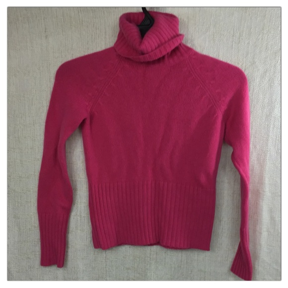 85% off Ann Taylor Sweaters - Ann Taylor Fuchsia Hot Pink Cashmere ...