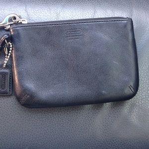 Coach wristlet- Black leather