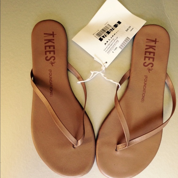 2c55d5a191e5a2 Tkees foundations beach bum (tan) slides new sz8