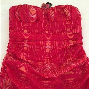 bebe Dresses & Skirts - Bebe Hot Pink Strapless Dress Size S