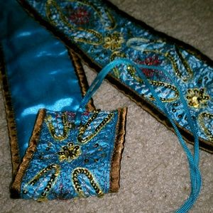 Satin sequin sash