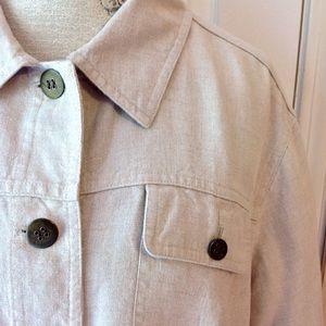 72e5afd3f438 ... Beige Linen Jacket by Charter Club