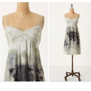 Anthropologie Charcoal Terrace Dress