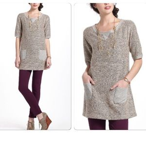 Anthropologie Nubby Boucle Tunic
