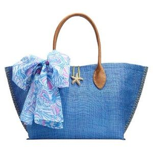 Lilly Pulitzer for Target Raffia Tote Bag- My Fans