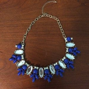Charlotte Russe gold statement necklace