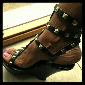 Shoes - Gladiator wedge heel sandals
