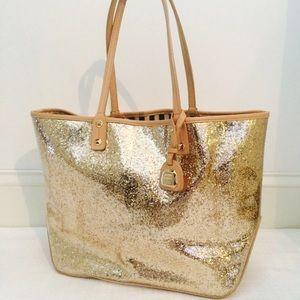 henri bendel Bags - Henri Bendel Gold Glitter Goddess Tote 192ac28fcc