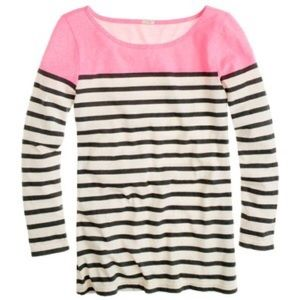 J. Crew Colorblock Stripe Boatneck Tee (Retail)