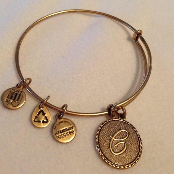 Alex and Ani Jewelry | Retired Initial C Charm Wire Bracelet