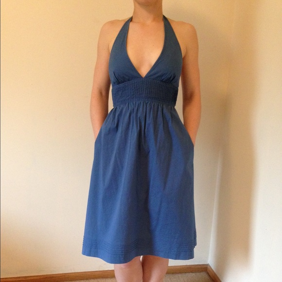 J Crew Halter Dress With Pockets | Poshmark
