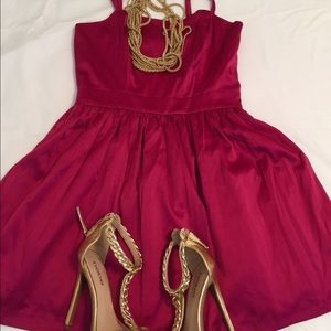Forever 21 Dresses & Skirts - Red Red Wine Party Dress Size S NWOT