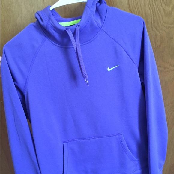 38% off Nike Sweaters - Womens purple nike thermafit hoodie ...