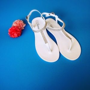 Shoes - White Jelly Sandal