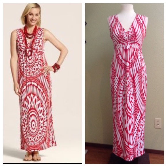 ed74d666ce Chico s Dresses   Skirts - Chicos red and white maxi dress