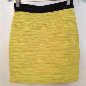 Forever 21 Dresses & Skirts - Bright Yellow Bodycon Skirt Size M