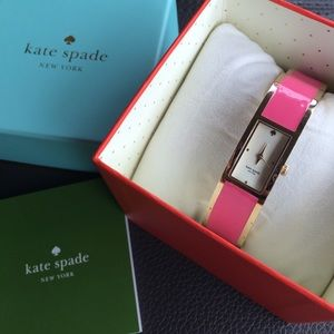 Kate Spade tickled pink and gold watch