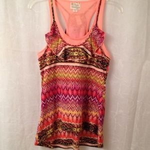 Pretty Rebellious Tops - High low 2 piece tunic