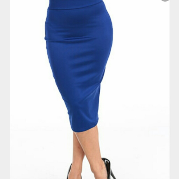 5ef7cb69998 Forever 21 Plus Dresses   Skirts - PLUS SIZE Royal blue pencil skirt