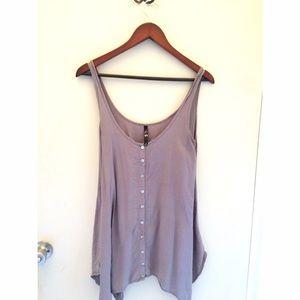 Mauve bottom down tank/dress