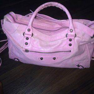 Balenciaga Pink Arena Giant Bag